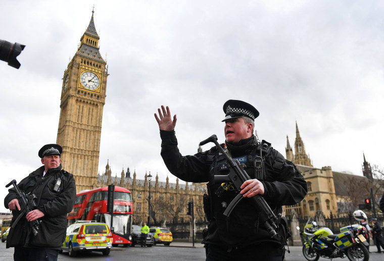 Image: Susected attack outside parliament in London