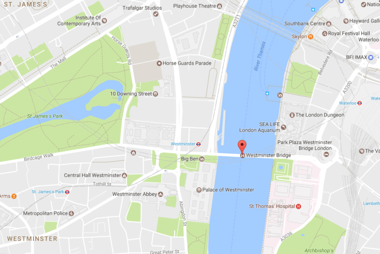 Image: Map of London around Parliament