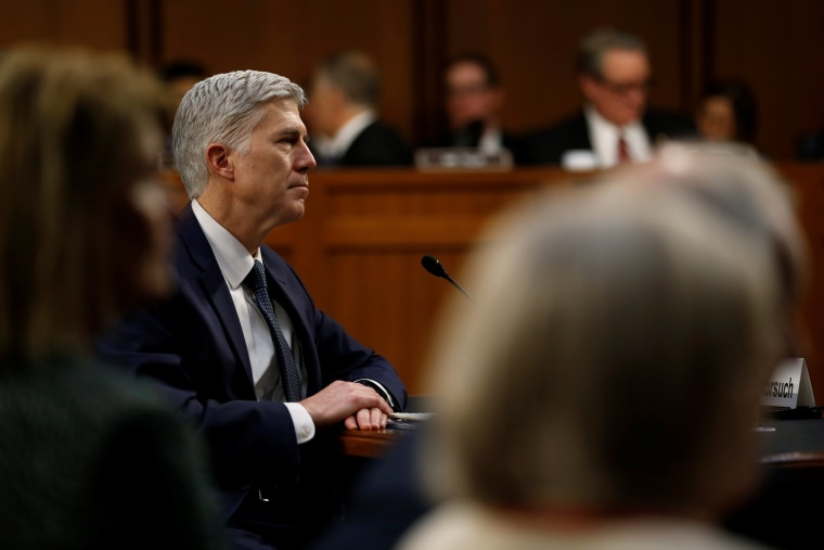 Image: Gorsuch testifies during the third day of his Senate Judiciary Committee confirmation hearing on Capitol Hill in Washington