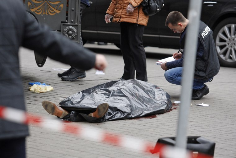 Image: Former Russian MP DENIS VORONENKOV was shot dead in Kiev.
