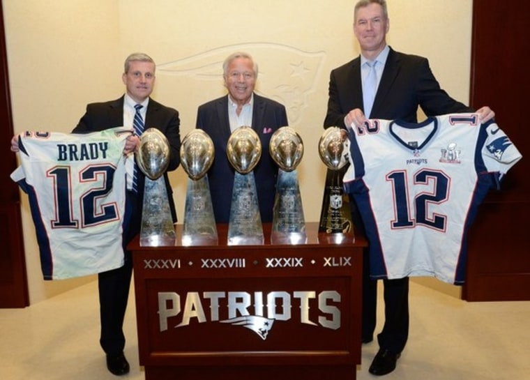IMAGE: Tom Brady's jerseys returned
