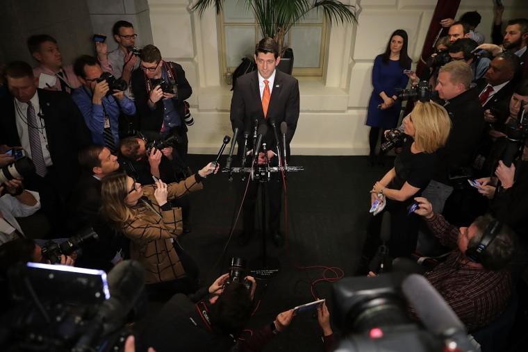 Image: Paul Ryan speaks to reporters