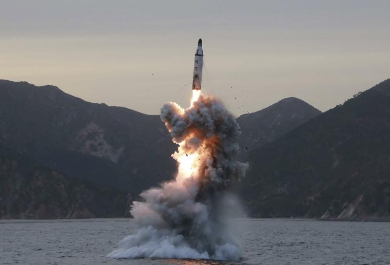 Image: North Korea test-fires missiles