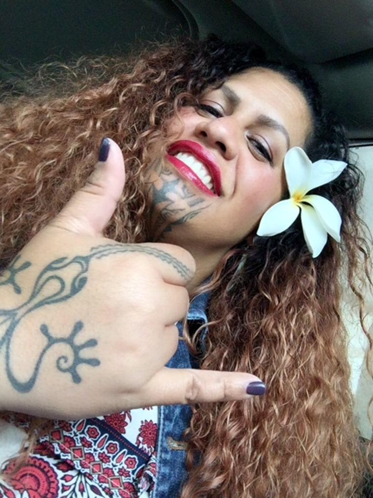 Marlo Lualemana counts as many as 10 tattoos on her body.