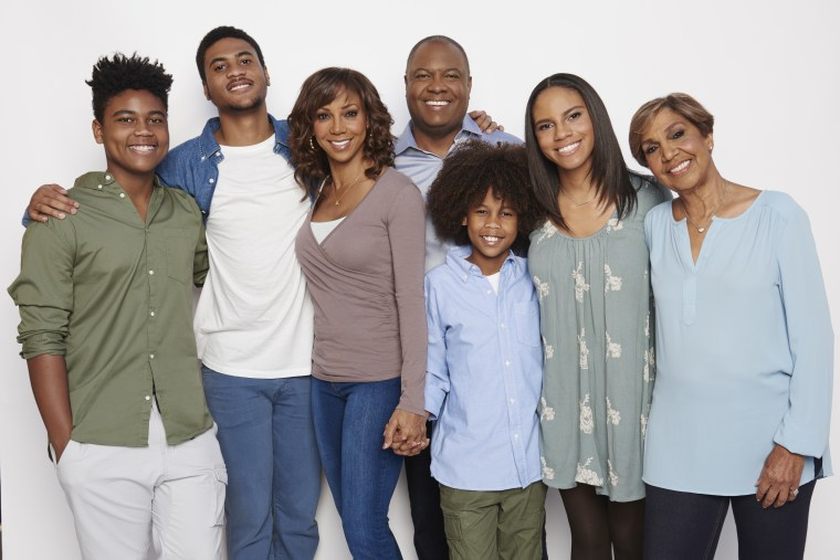 IMAGE: Holly Robinson Peete's family