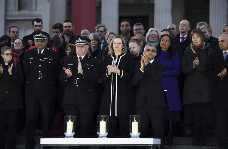 Image: Candlelit Vigil Is Held For The Victims Of The Westminster Terror Attack