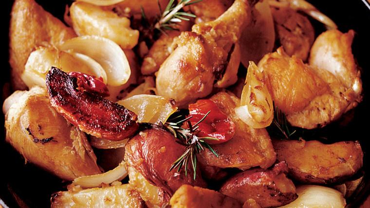 Lidia Bastianich's Grandma's chicken and potatoes
