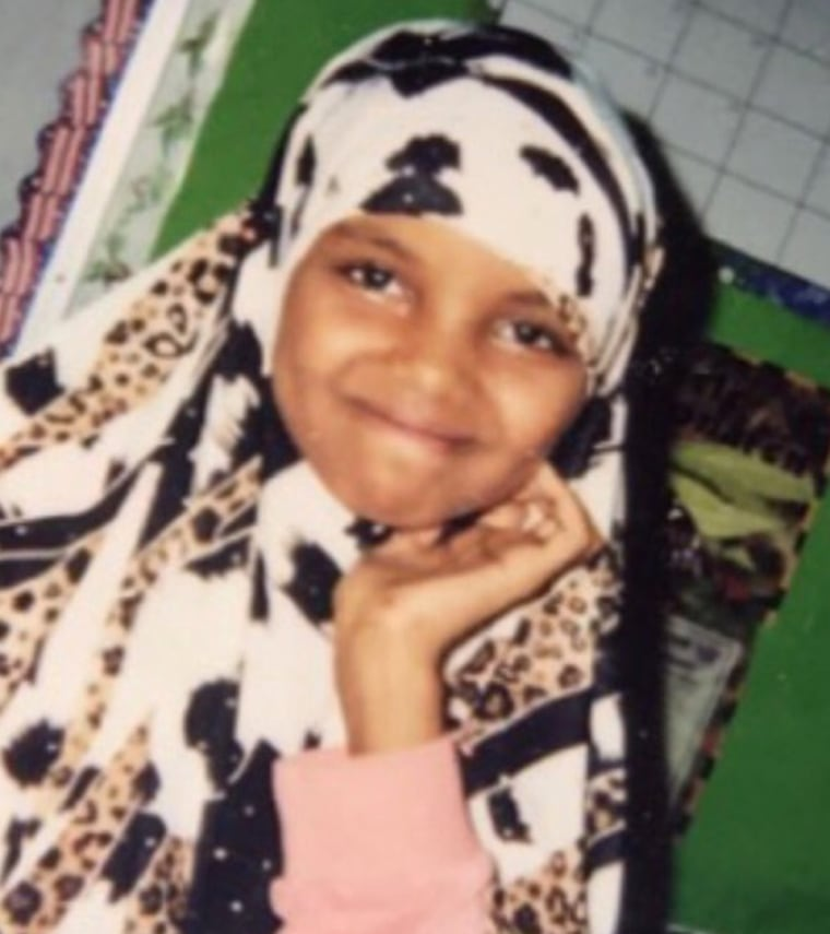 As a child, Aden was excited to begin wearing a hijab.