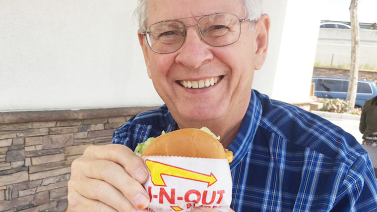 Grandparents send weekly photo from In-N-Out