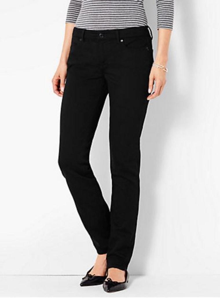 Straight-Leg Black Jean