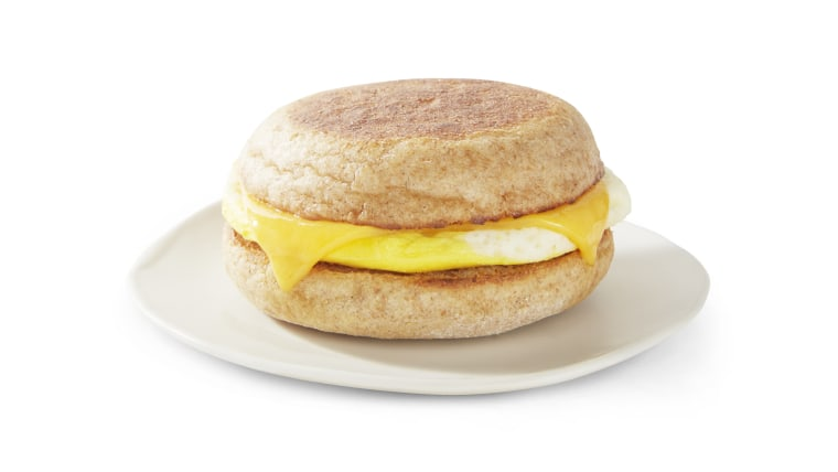 Starbucks egg and cheddar breakfast sandwich