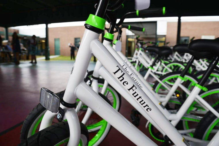 "The bikes come with a name, ""The Future,"" and each says, ""Let's go places."""