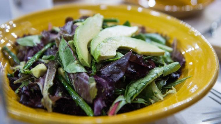 Roasted Asparagus and Avocado Salad