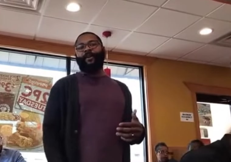 Donald Carter is about to give a Popeyes employee an amazing surprise