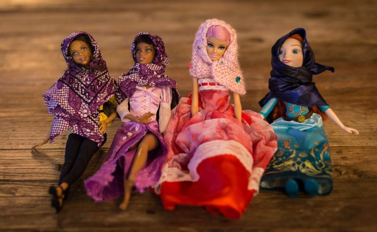 Kristen Michaels and Gisele Fetterman partnered with Safaaa Bokhari to offer hand-made hijabs as accessories for dolls. The Hello Hijab online shop launched on Saturday.