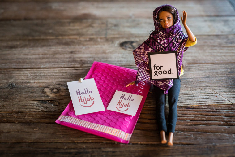 For Good PGH plans to offer a limited number of doll-sized hijabs as part of its Hello Hijab initiative. The print of the hijab varies with each order.