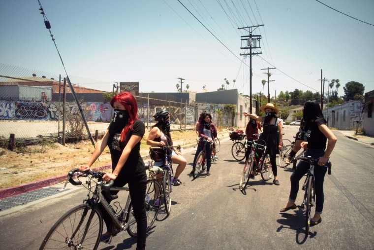 The Ovarian Psycos Bicycle Brigade of East L.A.