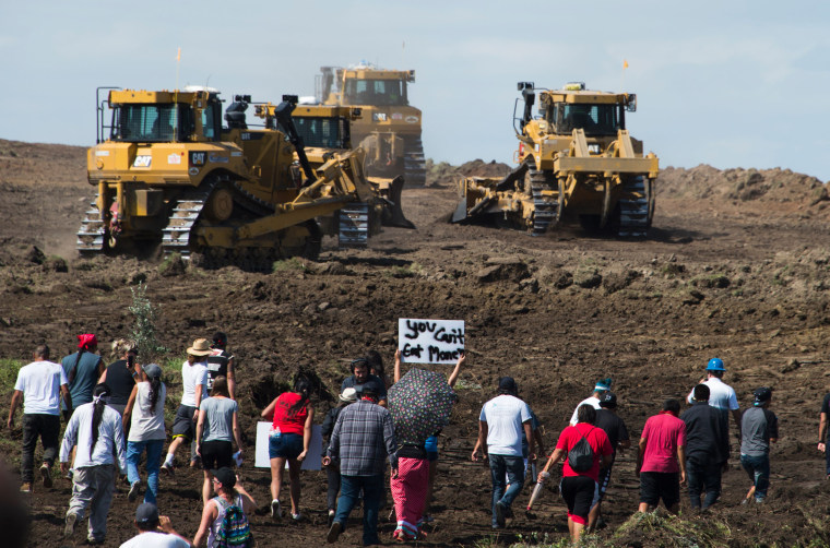 Image: Demonstration against construction of the Dakota Access Pipeline