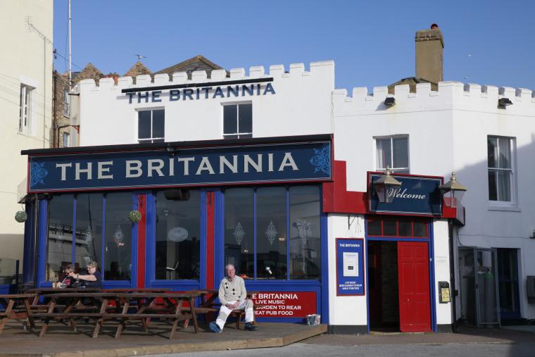 Image: The Britannia Pub in Margate, England