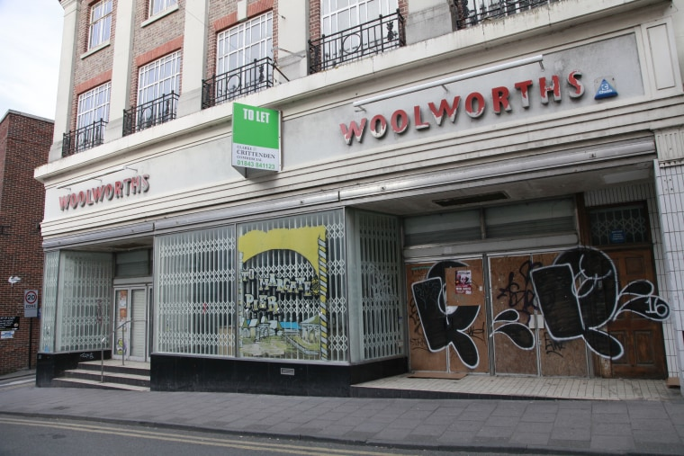 Image: A former Woolworths store in Margate, England