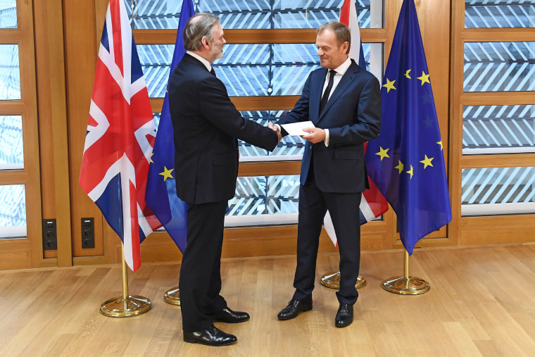 Image: Sir Tim Barrow and Donald Tusk