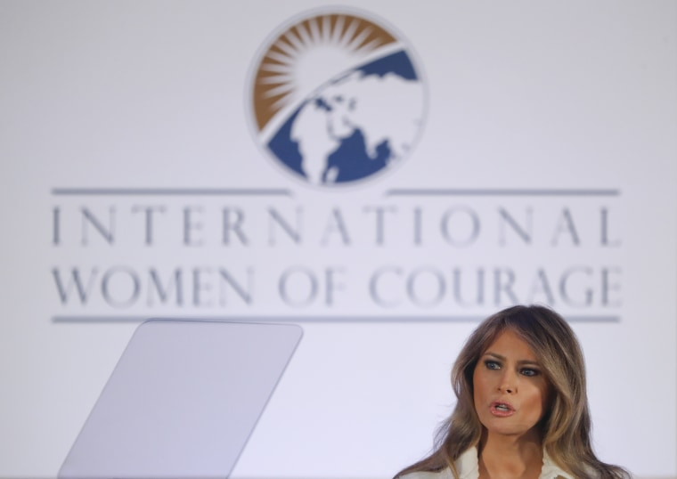 Image: Melania Trump attends  the International Women of Courage ceremony