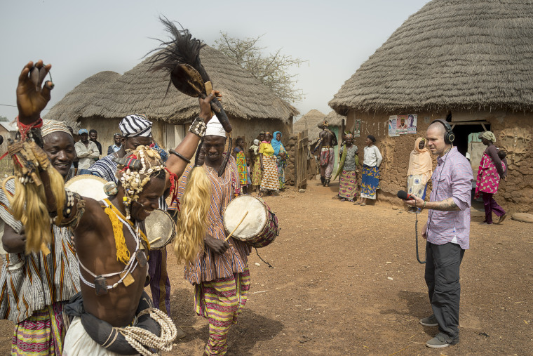 Photos in Ghana for Rene recording