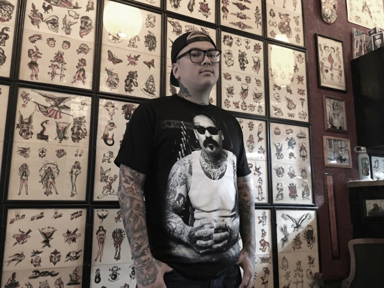 Phil Hatchet-Yau, a tattooer based in San Diego who is known for his modern American tattooing style.