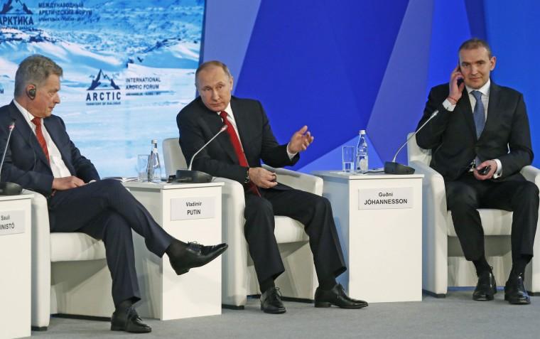 Image: Putin at International Arctic Forum in Arkhangelsk