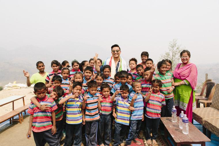 Prabal Gurung during a recent trip to Nepal.