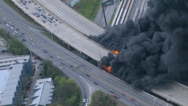 Image: Atlanta highway fire
