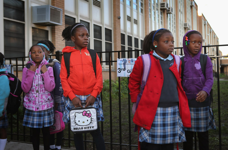 Image: Chicago Students Head Back To School After Deal On Strike Reached