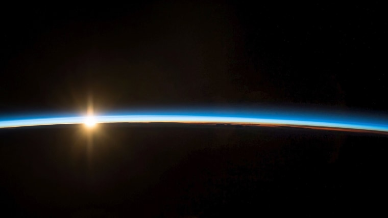 Image: Sunrise from International Space Station