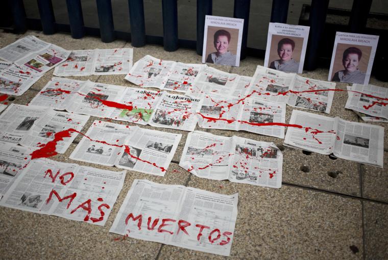Image: Photos of Mexican journalist Miroslava Breach