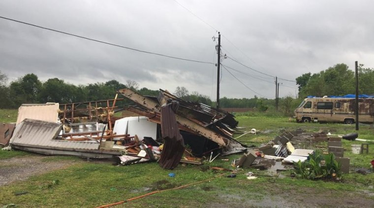 IMAGE: Louisiana tornado damage