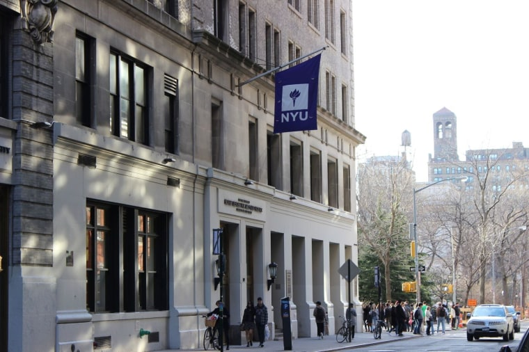 Exterior shot of New York University (NYU), in New York, NY.