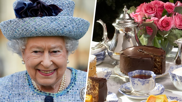 Queen Elizabeth and Chocolate Biscuit Cake