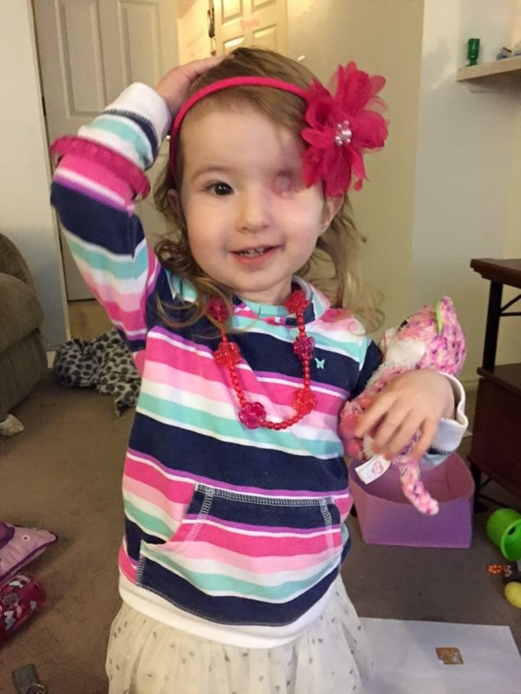 Brynn Munger lost her eye to a form of cancer.