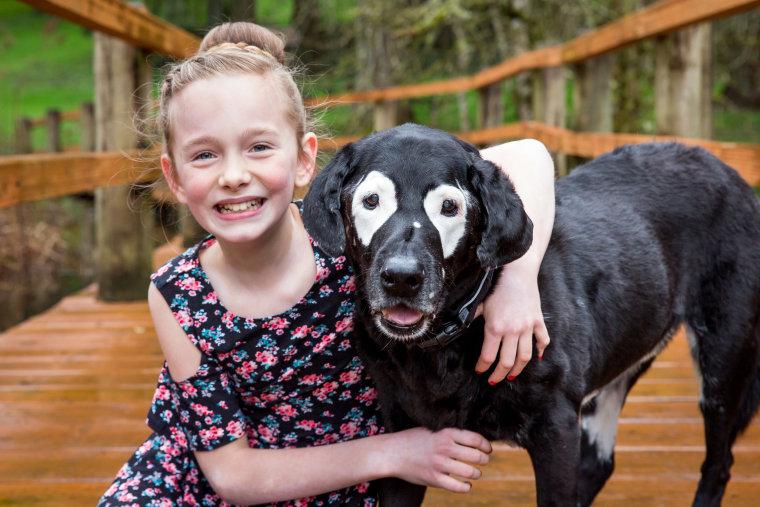 Ava Bright, 10, with Rowdy.