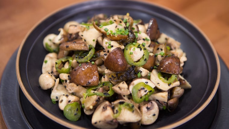 Raw Mushroom Salad with Sesame-Ginger Brown Butter
