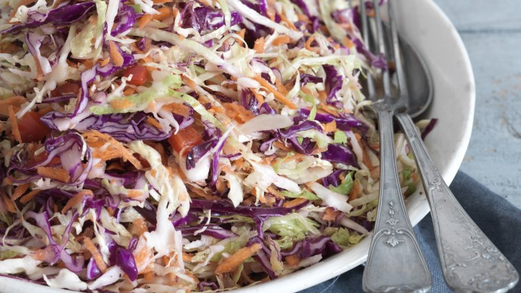 Serving Dish of Cole Slaw