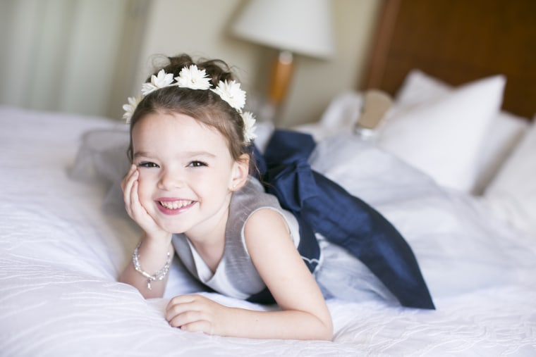 Kelsey Berger, 5, was diagnosed with leukemia in February 2017.