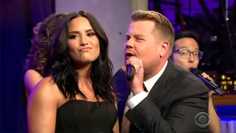 James Corden Divas Riff-Off w/ Demi Lovato