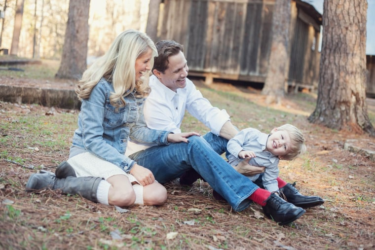 Bobby and Rayena Wesson with their son, Deacon, 3.