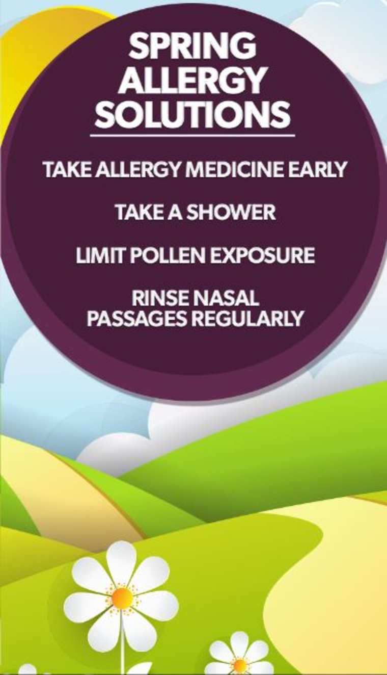 How to ease your seasonal allergies.