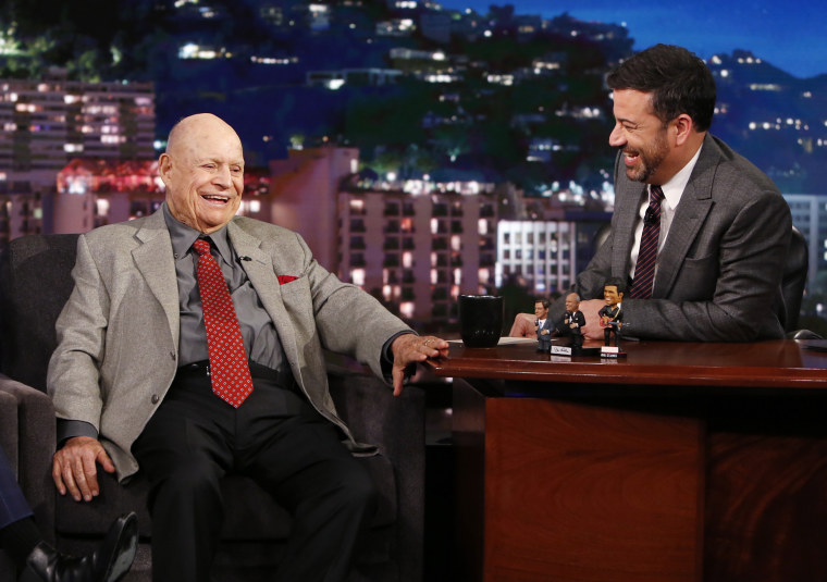 Don Rickles and Jimmy Kimmel from October 2016.