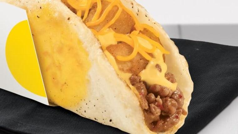 Taco Bell Naked Breakfast Taco