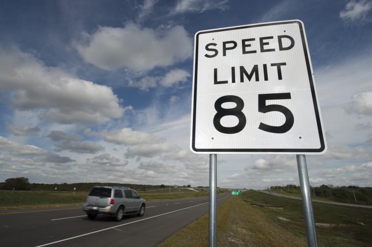 Image: The final southern portion of SH130 toll road from Georgetown, TX north of Austin to Seguin near San Antonio opens in central Texas with the fastest speed limit in the country at 85 miles per hour.