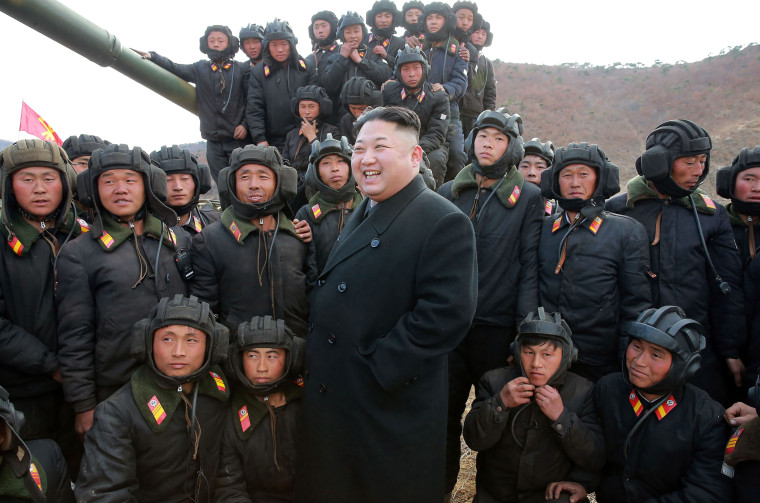 Image: Kim Jong-Un attends a competition between tank units from the Korean People's Army this year