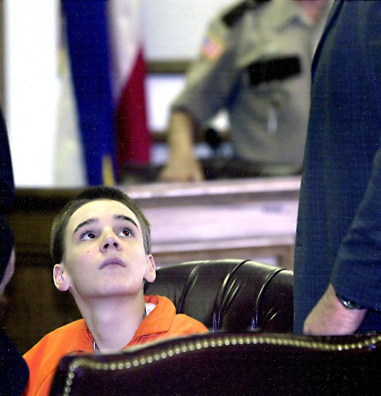 Image: Tyler Edmonds, then 14,during a 2004 court appearance.
